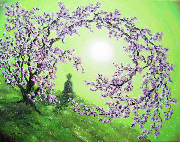 Monk Painting - Spring Morning Meditation by Laura Iverson