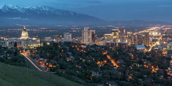 Photograph - Spring Night In Salt Lake City by James Udall