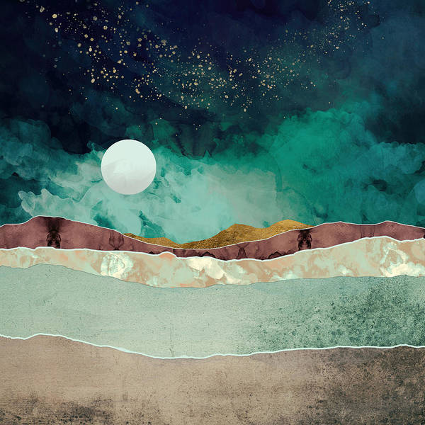 Spring Mountains Digital Art - Spring Night by Katherine Smit