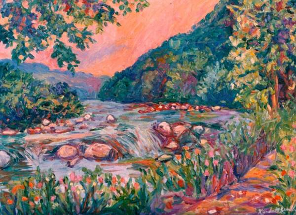 Painting - Spring On The New River by Kendall Kessler
