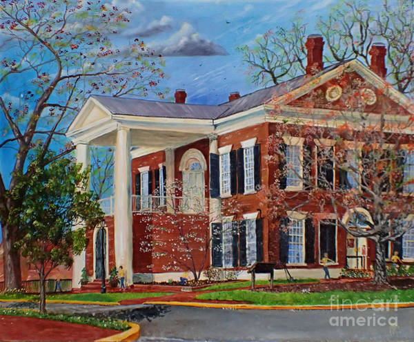 Painting - Spring Planting At The Dahlonega Gold Museum by Nicole Angell