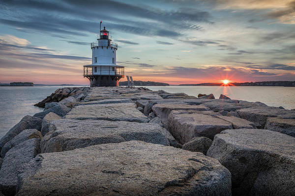 Photograph - Spring Point Ledge Light Sunrise by Colin Chase