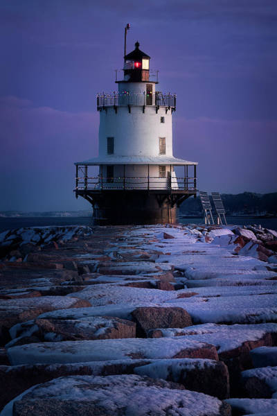 Wall Art - Photograph - Spring Point Ledge Lighthouse During The Holidays by Jeff Bazinet