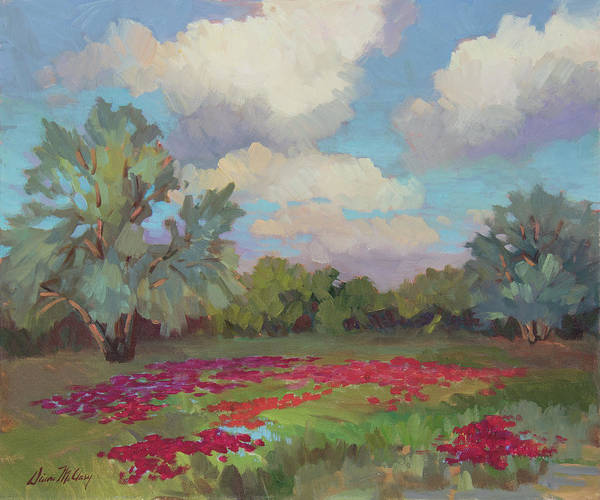 Wall Art - Painting - Spring Poppies by Diane McClary