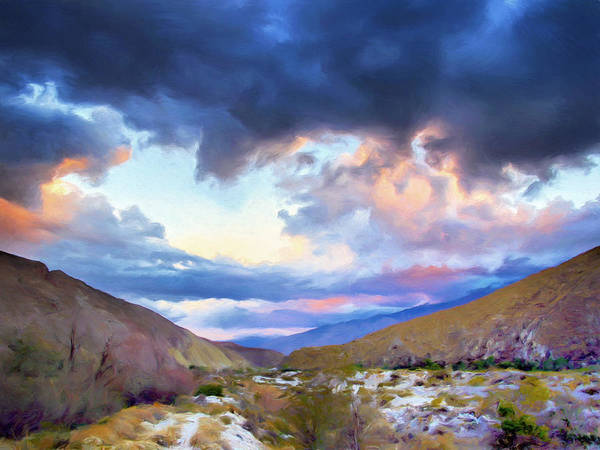 Painting - Spring Rain At Whitewater Canyon by Dominic Piperata
