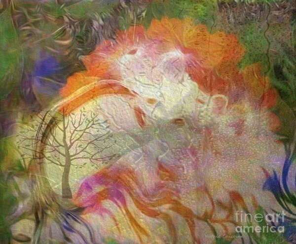 Digital Art - Spring Rain by Kathie Chicoine