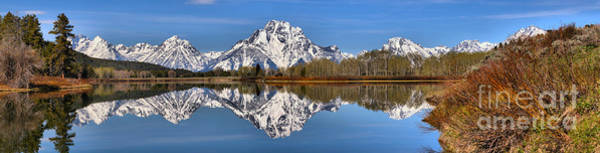 Photograph - Spring Reflections At Oxbow Bend Panorama by Adam Jewell