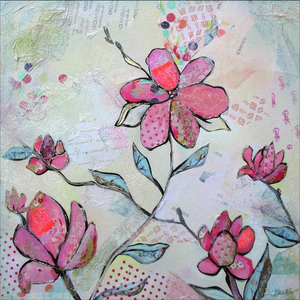 Pink Blossom Painting - Spring Reverie II by Shadia Derbyshire