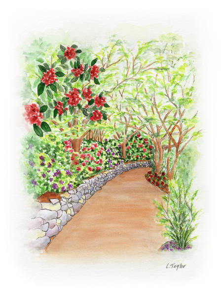 Painting - Spring Rhodies by Lori Taylor