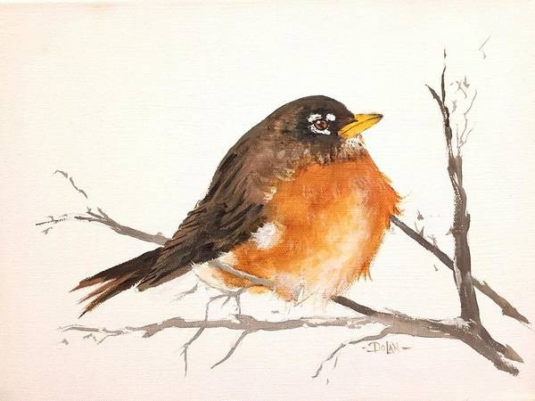 Painting - Spring Robin by Pat Dolan