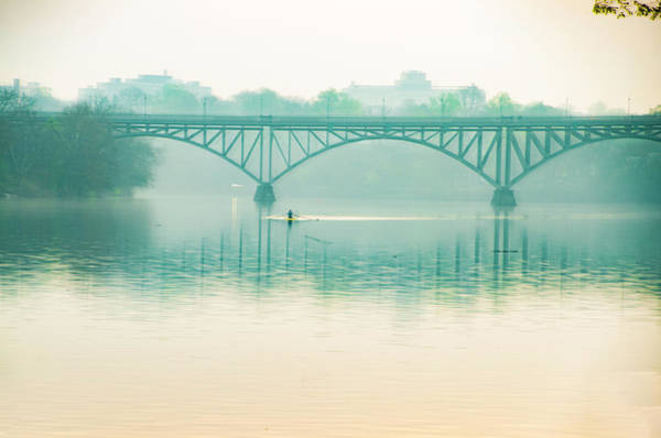 Photograph - Spring - Rowing Under The Strawberry Mansion Bridge by Bill Cannon