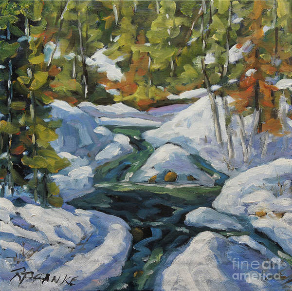 Montreal Scenes Painting - Spring Run Off by Richard T Pranke