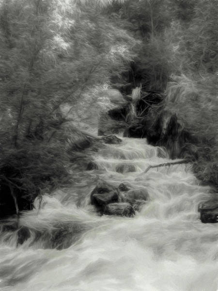 Spring Mountains Digital Art - Spring Runoff Dpd by David King