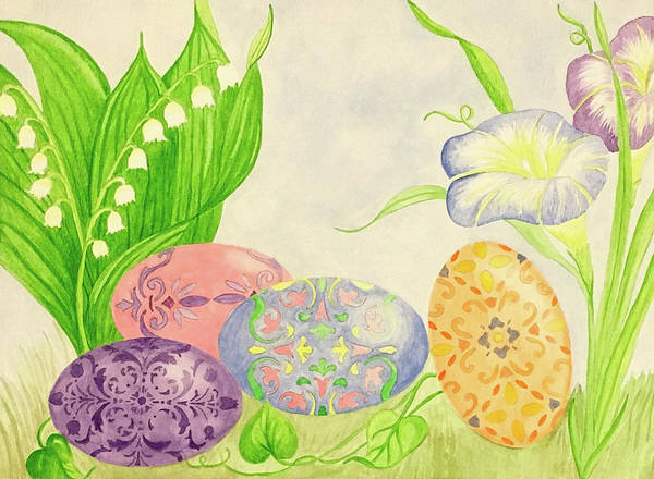 Wall Art - Painting - Spring Scene by Alynne Landers