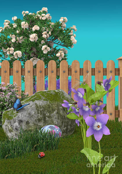 Wall Art - Digital Art - Spring Scene by Mary Machare