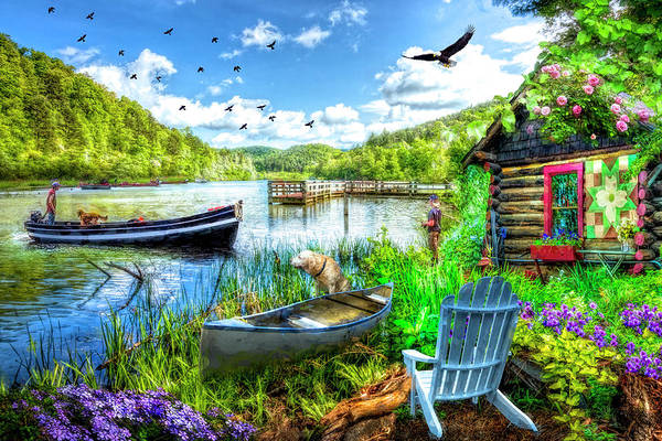 Wall Art - Photograph - Spring Serenity At Lakeside by Debra and Dave Vanderlaan