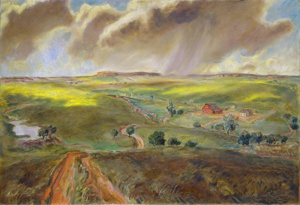 Wall Art - Painting - Spring Shower by John Steuart Curry