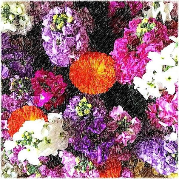 Flower Digital Art - Spring Showers  by Kumiko Izumi