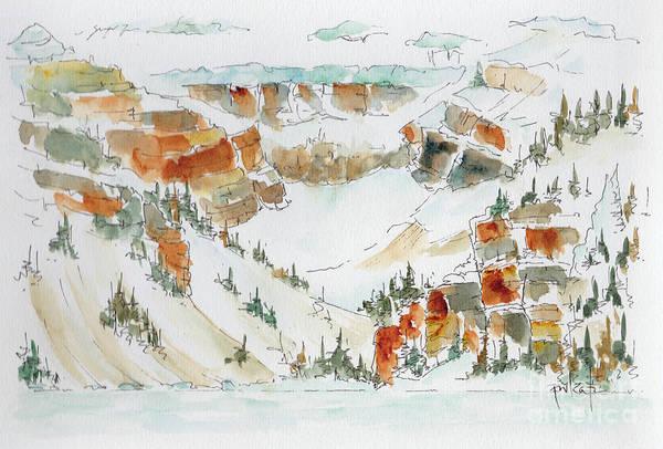 Painting - Spring Snow Lake Louise by Pat Katz