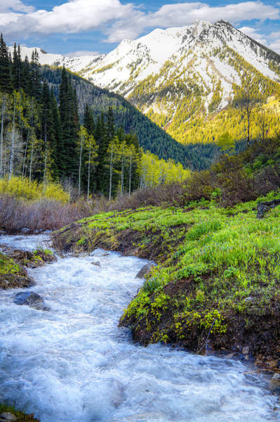 Steep Photograph - Spring Snow Melt Wasatch Mountains Utah by Douglas Pulsipher