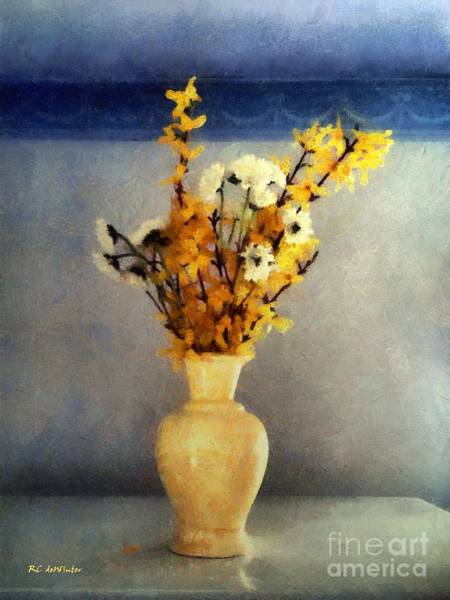 Forsythia Painting - Spring Spice by RC DeWinter