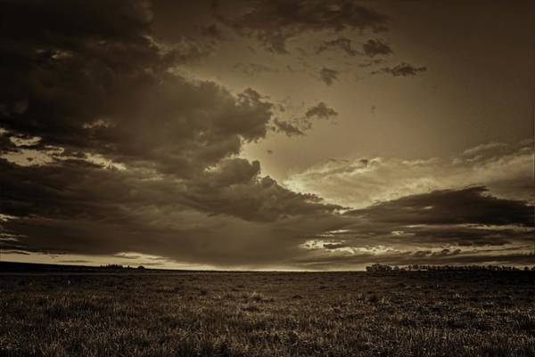 Photograph - Spring Storm Front In Sepia by Dale Kauzlaric