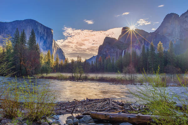 Wall Art - Photograph - Spring Sunrise At Yosemite Valley by Scott McGuire