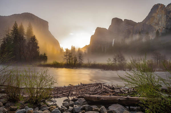 Spring Sunrise Valley View Yosemite National Park  Art Print