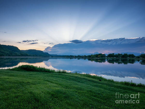Photograph - Spring Sunset East Lake Winona by Kari Yearous