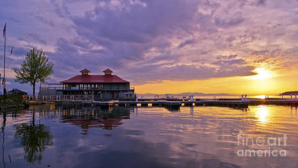 Photograph - Spring Sunset From Burlington by Scenic Vermont Photography