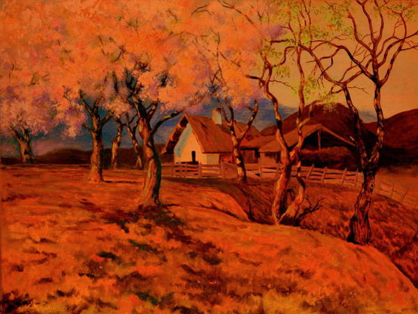 Crazy Mountains Painting - Spring Sunset by Henryk Gorecki