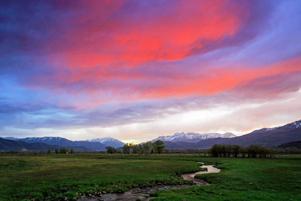 Wall Art - Photograph - Spring Sunset In Heber Valley, Utah. by Johnny Adolphson