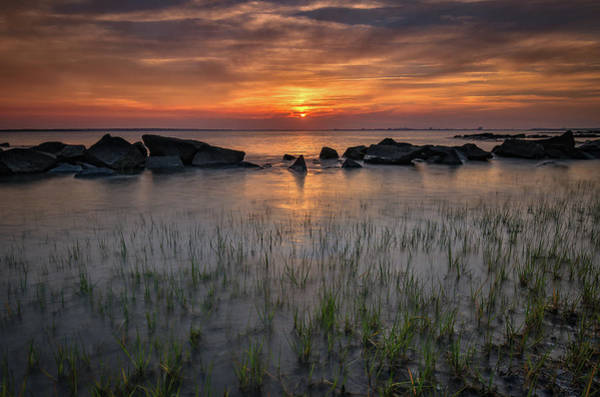 Photograph - Spring Sunset Sullivan's Island, Sc by Donnie Whitaker