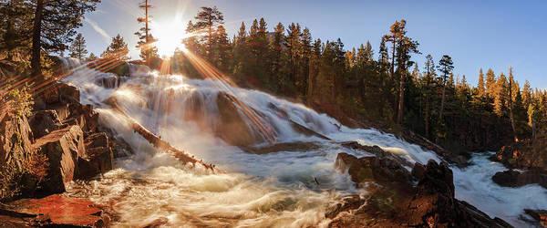 Lightroom Photograph - Spring Sunset Surge At Glen Alpine Falls by Mike Herron