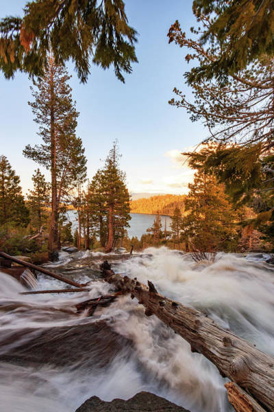 Lightroom Photograph - Spring Surge Into Cascade Lake by Mike Herron