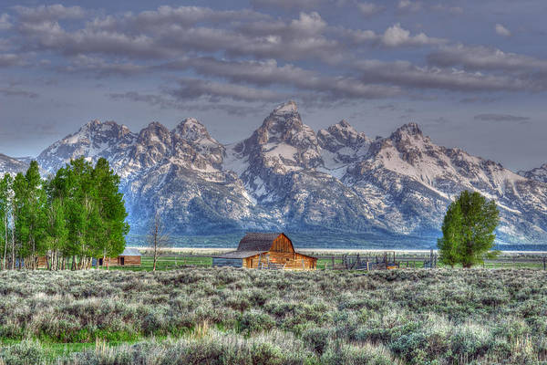 Photograph - Spring Teton Barn  by David Armstrong