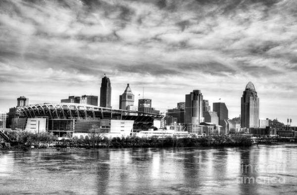 Photograph - Spring Thaw In Cincinnati Bw by Mel Steinhauer