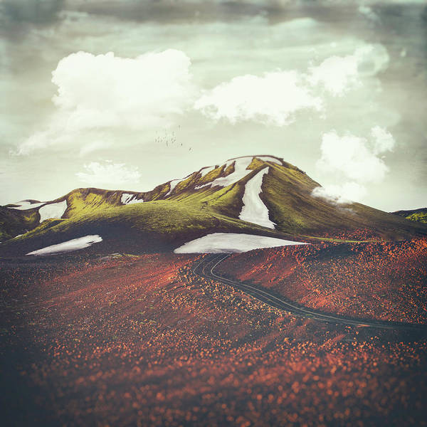Spring Mountains Digital Art - Spring Thaw by Katherine Smit