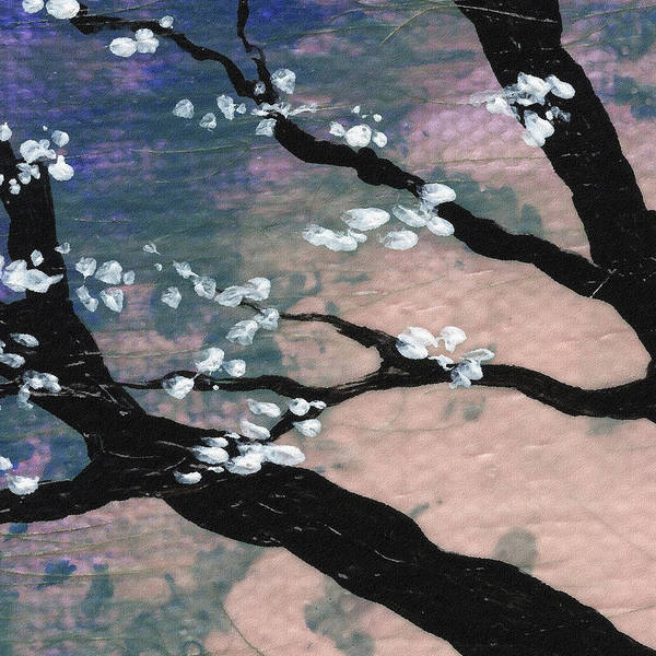Ultramarine Blue Painting - Spring Tree by Irina Sztukowski