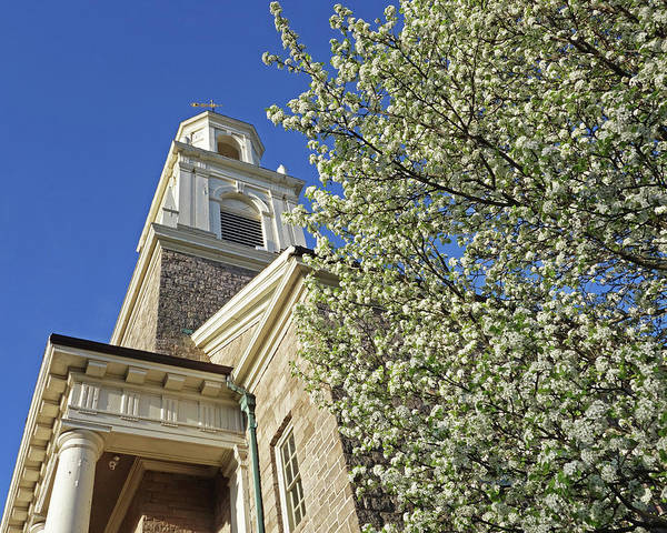 Photograph - Spring Trees By The Tabernacle Church Downtown Salem Ma by Toby McGuire