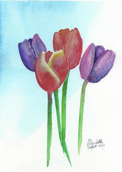 Painting - Spring Tulips by Betsy Hackett