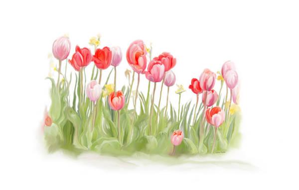 Digital Art - Spring Tulips II by Ramona Murdock
