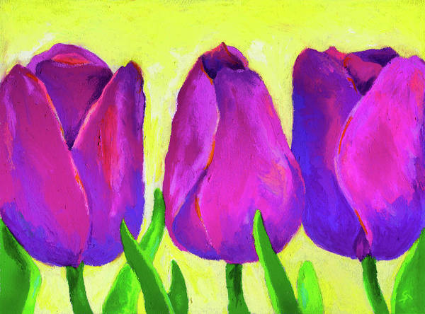 Wall Art - Painting - Spring Tulips by Stephen Anderson
