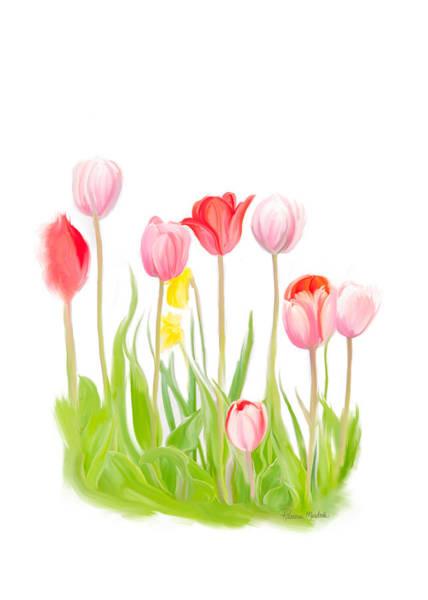 Digital Art - Spring Tulips Iv by Ramona Murdock