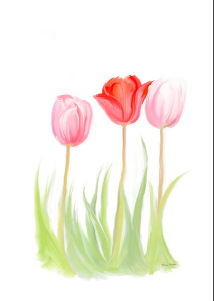 Digital Art - Spring Tulips V by Ramona Murdock