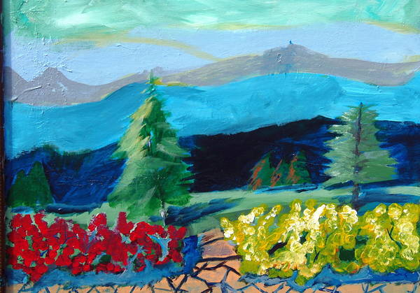 Forsythia Painting - Spring Under The Blue Ridge by Max Bowermeister