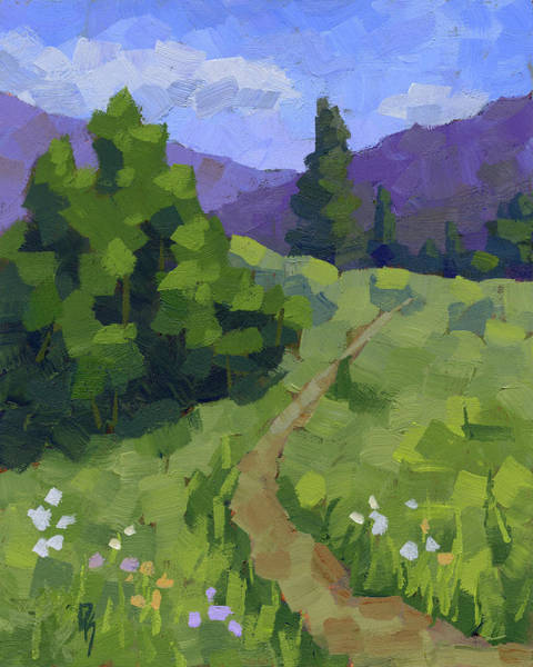 Painting - Spring Walk In The Mountains by David King