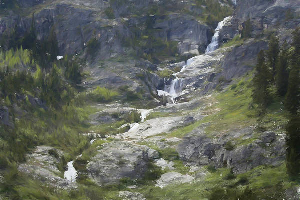 Painting - Spring Waterfall In The Tetons by Dan Sproul