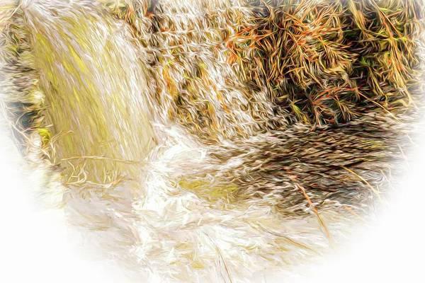 Digital Art - Spring Waterfall. by Rusty R Smith