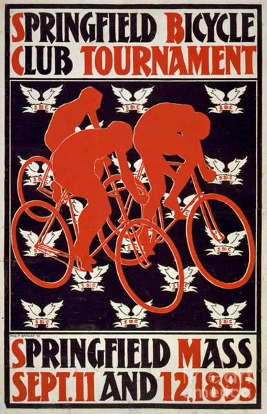 Photograph - Springfield Bicycle Club Tournament Vintage Poster by Edward Fielding